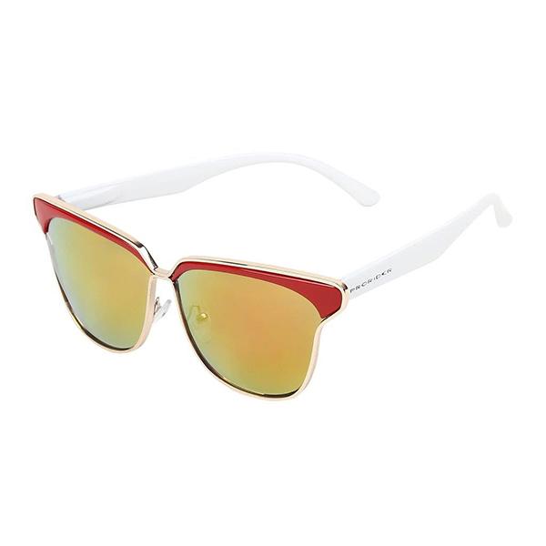Óculos Solar Prorider Vermelho, Dourando e Branco