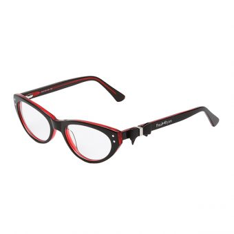 Óculos Paul Ryan Preto Vermelho