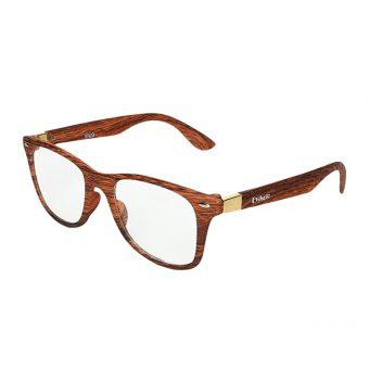 Óculos Evasolo Madeira, Marrom Dourado