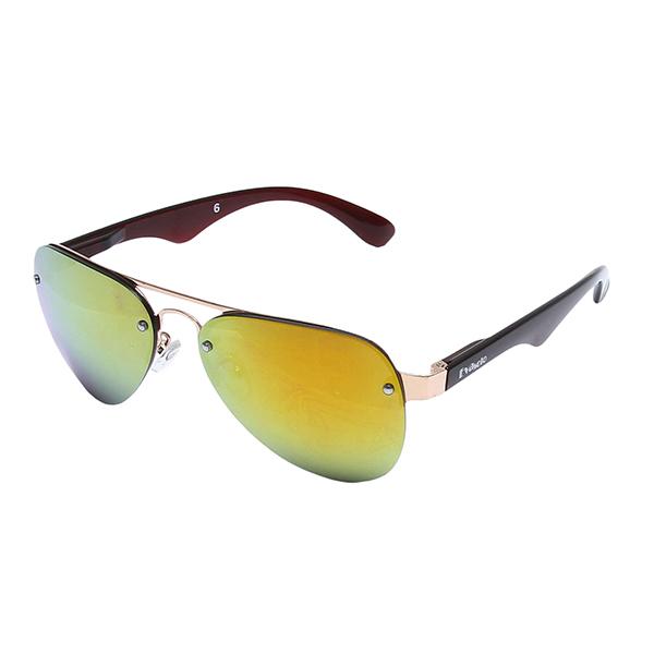 Óculos Solar Evasolo Dourado, Marrom Translucido