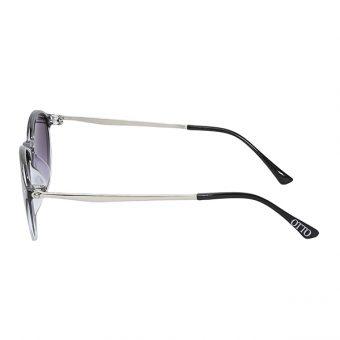 Óculos Solar Otto Preto Degradê Cristal Prata
