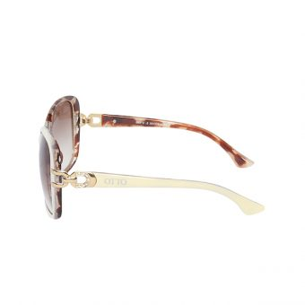 Óculos Solar Otto Off - White - Animal Print- Marrom - Dourado