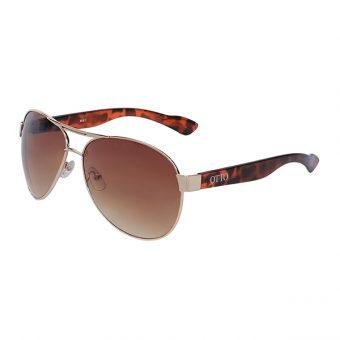 Óculos Solar Otto Dourado Tartaruga