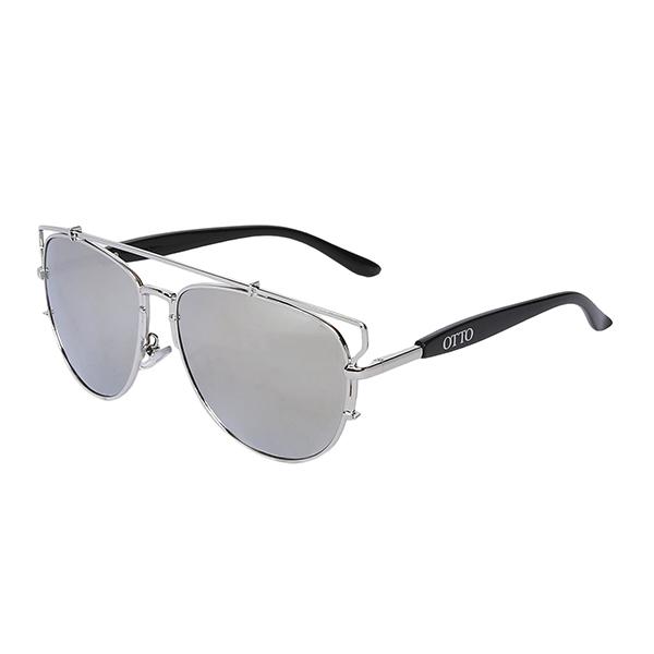 Óculos Solar Otto Prata e Preto