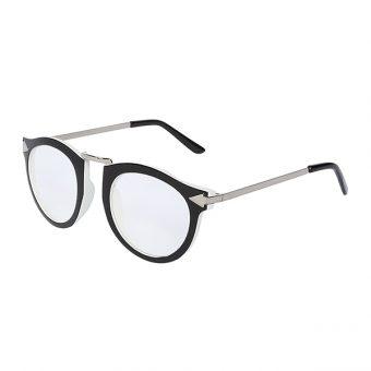 Óculos Otto Preto, Branco e Prata