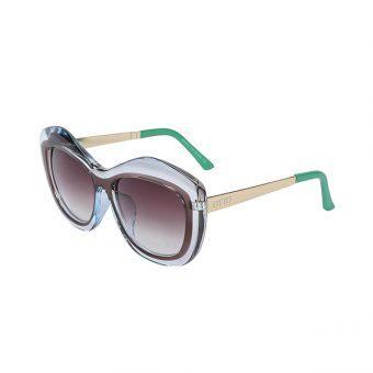 Óculos Solar Otto Cristal, Marrom, Verde e Dourado