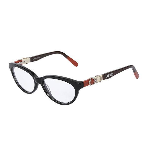 Óculos Otto Preto, Marrom Terracota e Prata