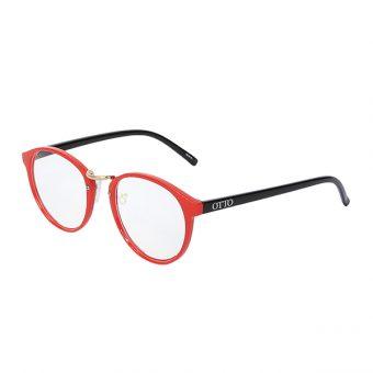 Óculos Otto Vermelho, Dourado Preto
