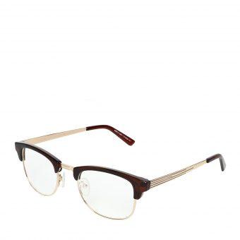 Óculos Titânia Marrom Translucido Dourado